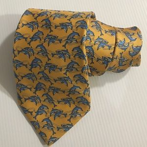 Brooks Brothers Mens Neck Tie Dolphins Print